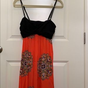 Anthropologie maxi dress removable strap size S
